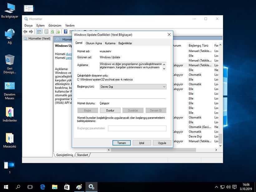Windows 10 Güncelleştirmeleri Kapatma Adım 3