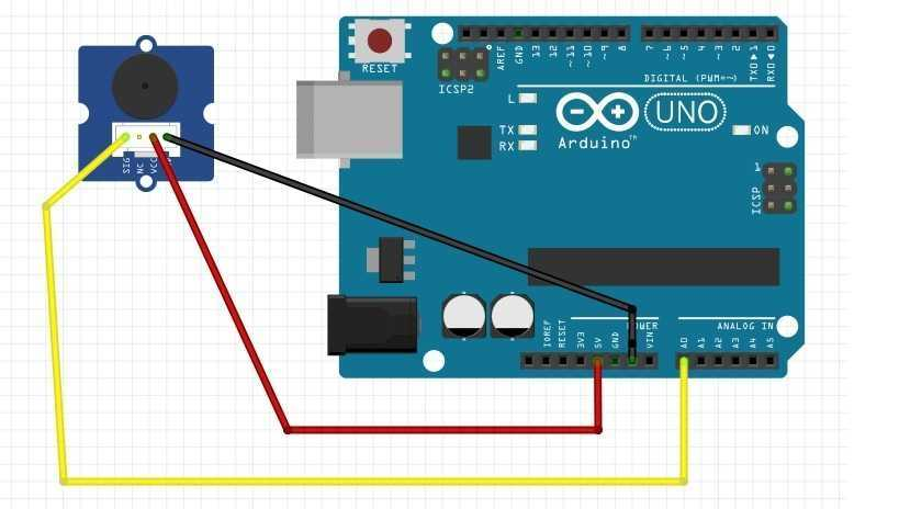 Arduino Ses Sensörü Bağlantı Devresi