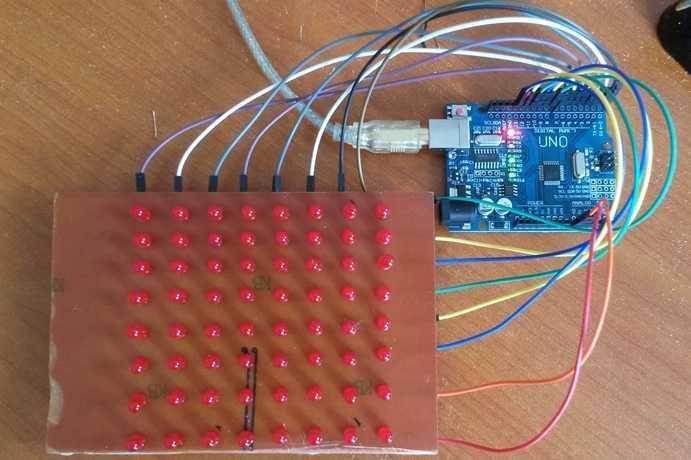 Arduino ile 8x8 Matrix Kayan Yazı