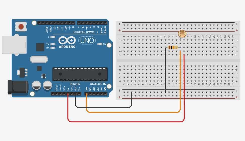 Arduino ile LDR Sensör Kullanımı Devre Şeması